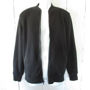 John Varvatos Bomber Jacket Leather Elbow Patch